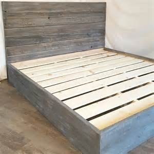 reclaimed wood bed frame the grey weathered reclaimed wood bed frame