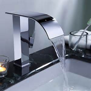 waterfall bathroom sink contemporary waterfall bathroom sink faucet chrome finish
