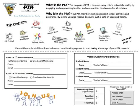 pta membership card template 2016 pta membership pictures to pin on