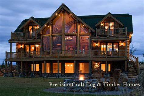 Cabin Plans For Sale A Milled Log Home Masterpiece By Precisioncraft Log Home