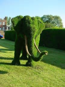 Elephant Topiary Frame - art sci the art of living plant sculptures