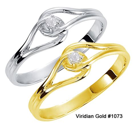 link purity ring in yellow or white gold 1073