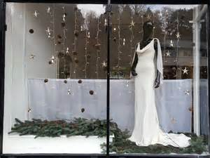 Charleston Cut Flowers - twelve window displays in bath wedding dress shop