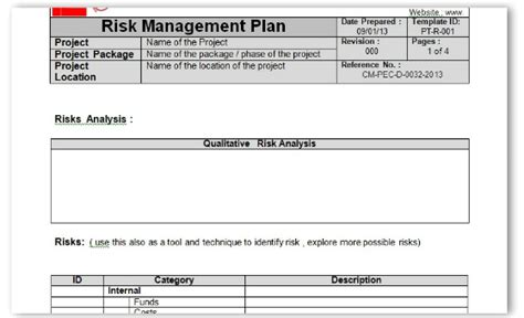 risk management form template doc 960397 free risk assessment matrix templates