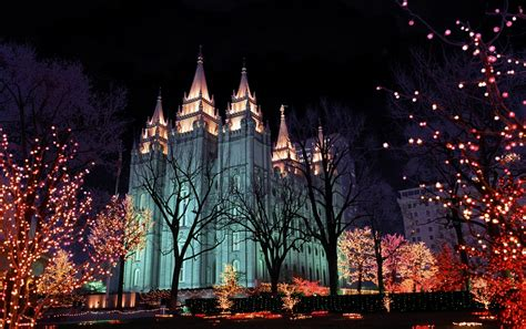 christmas lights temple square salt lake city utah