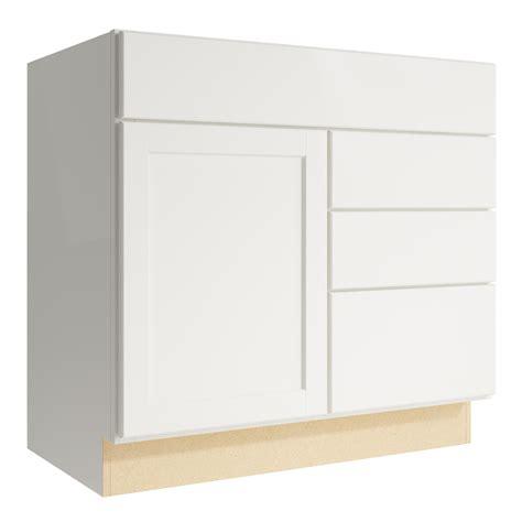 Kraftmaid Drawer Glides by Shop Kraftmaid Momentum Cotton Paxton 1 Door 3 Drawer