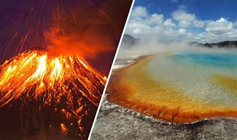 Exploding Lava L by Yellowstone Ready World S Volcano About To Burst