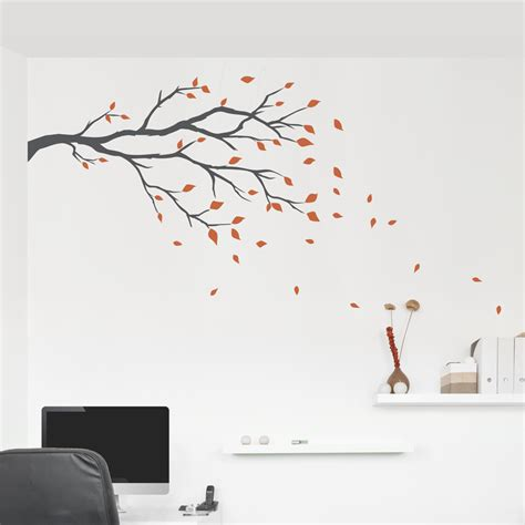 branches wall stickers windy day branch wall decal