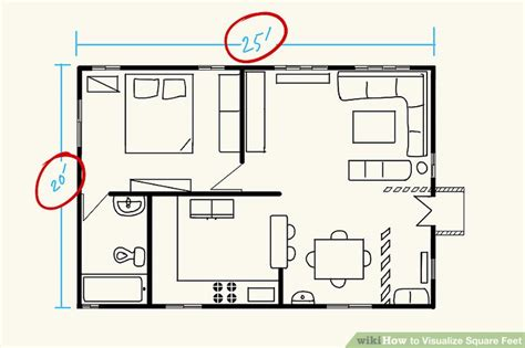 visualize square feet 3 ways to visualize square feet wikihow