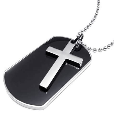 tag cross necklace tag cross necklace kwnshop