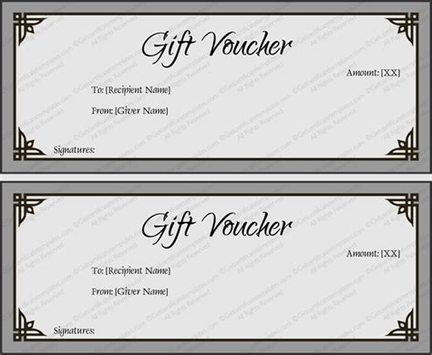 simple certificate template gift voucher template simplay gray and beautiful design