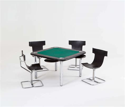 Card Tables And Chairs by Chrome And Leather Card Table And Chairs At 1stdibs