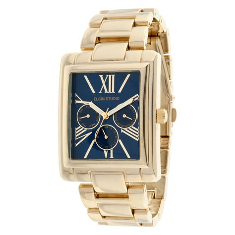 elgin gold tone multi function bracelet w