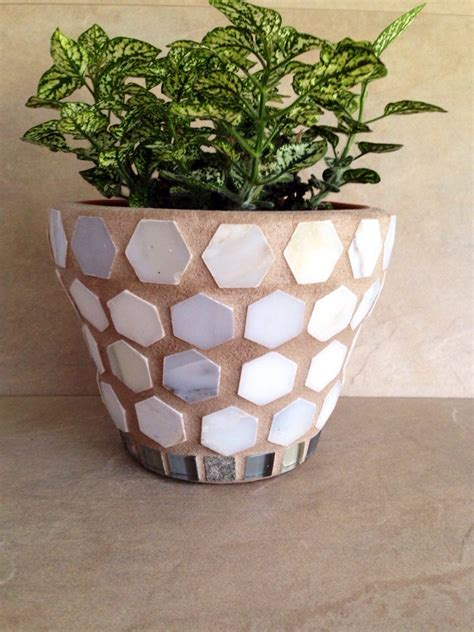 Mosaic Flower Pot Planter Outdoor Patio Pot Indoor Plant - mosaic flower pot planter rustic outdoor patio pot indoor