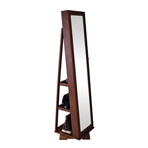 oak standing mirror jewelry armoire oak free standing rotatable swivel jewelry cabinet armoire