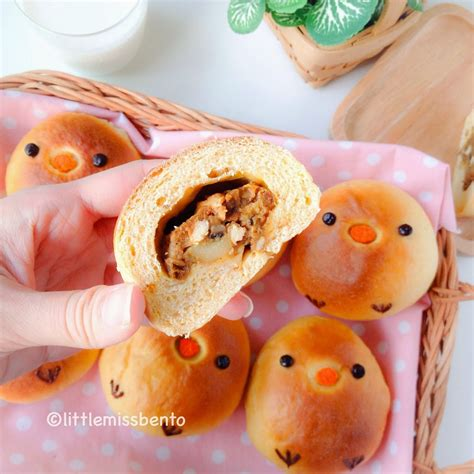 Bento Egg Chicken Roll Frozen Homade recipe for japanese curry bread 自家製カレーパン レシピ 可愛いトリさん miss bento