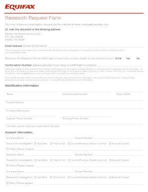Credit Investigation Form Annual Credit Report Request Template Forms Fillable