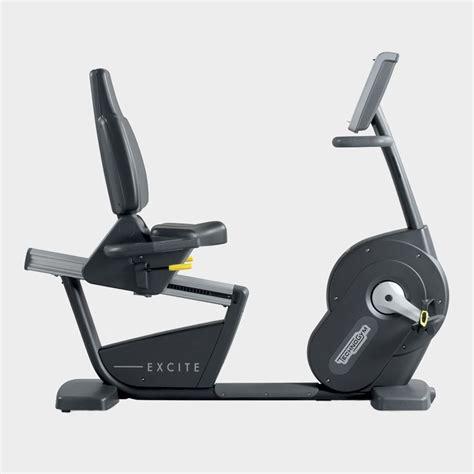 recline exercise bike excite 174 recline exercise bikes technogym
