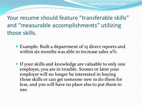 Resume Measurable Accomplishments Career Reboot Transferable Skills That Rock You To Results