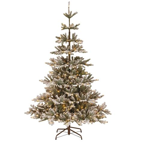 black hills fir pre lit home accents 7 5 ft pre lit grand fir set artificial tree with