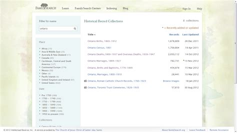 Ontario Records Search Genea Musings Tuesday S Tip Check Out Ontario Records On Familysearch