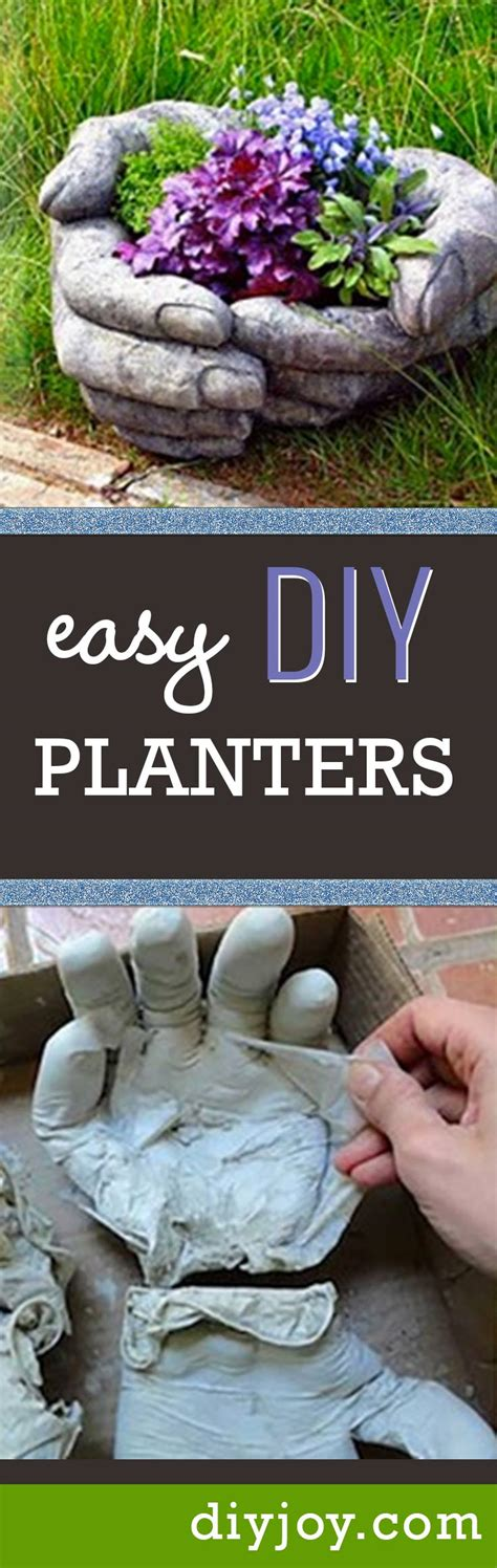 Handmade Planters - these diy concrete planters are easier to make than
