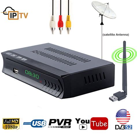 1080p digital dvb s2 ac3 satellite receiver tv tuner wifi iptv combo ebay