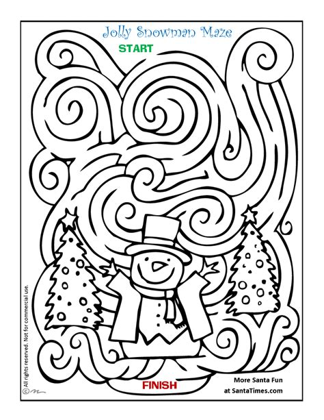 printable snowflake maze snowman maze can you find your way through this frosty