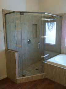 semi frameless shower door with chrome hardware kerabath
