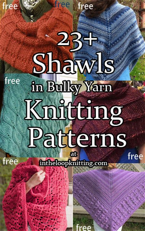 in the loop knitting shawls for bulky yarn knitting patterns in the loop knitting