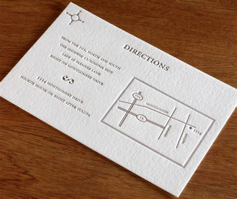 wedding invitation directions maps for your wedding the 5 best details to include in letterpress wedding invitations