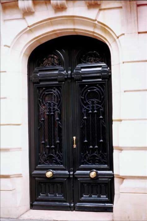 Black Exterior Door Glossy Black Exterior Doors In Elliptical Arched Doorway Door And Window