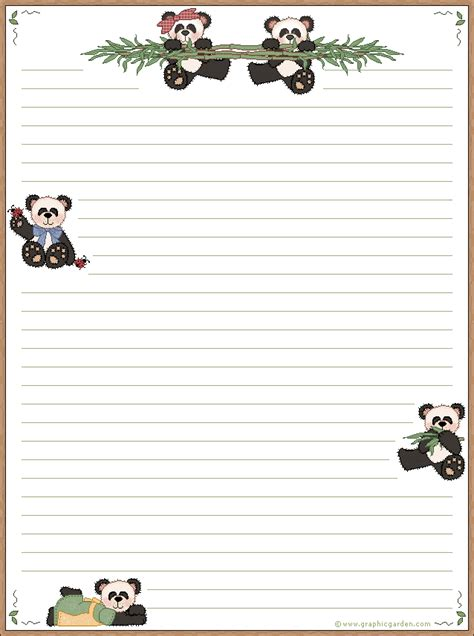 printable animal letterhead 21 free printable panda gifts cards and toys