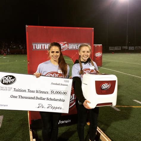 Dr Pepper Tuition Giveaway 2017 - corwin beverage partners with dr pepper for its annual tuition toss giveaway