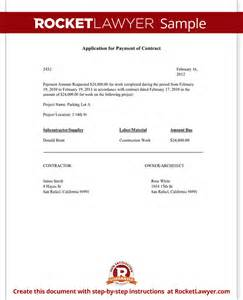 application for payment contract form template
