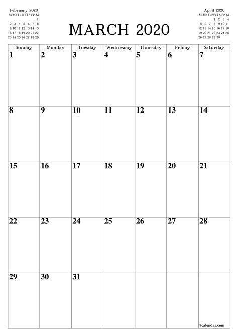 printable blank monthly calendar  planner  march        png