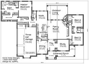 Home Design Floor Plans Country Home Design S2997l Texas House Plans Over 700