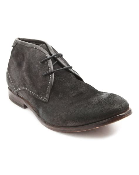 gray suede boots hudson cruise grey suede ankle boots in gray for grey