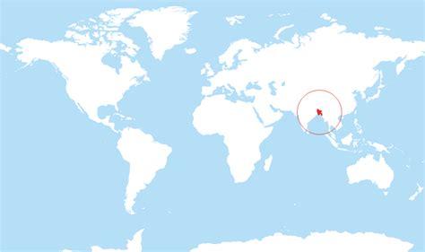 dhaka on world map where is bangladesh on the world map