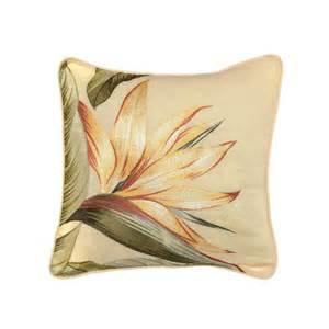 bahama throw pillows bahama bedding birds of paradise embroidered throw