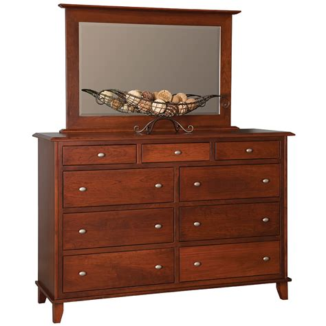 Soho Dresser by Modern Dresser With Mirror Handmade Solid Wood Chest Of 9