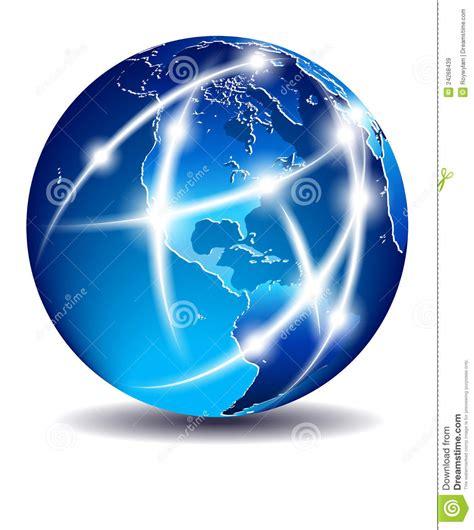 globe l communication world global commerce america stock image