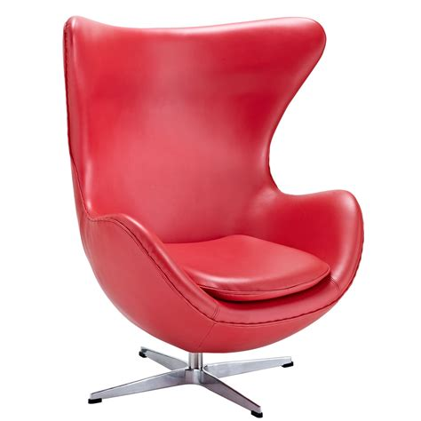 red leather chair with magnum leather chair modern furniture brickell collection