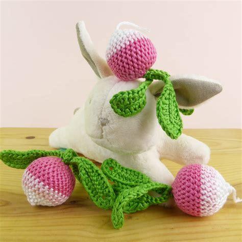Pink Radish Squishy radish soft crochet pretend play by petit mushyp notonthehighstreet