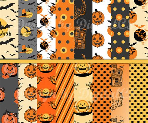 printable paper halloween items similar to halloween digital paper halloween