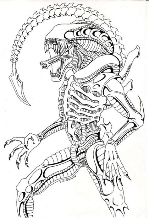 Xenomorph Coloring Pages