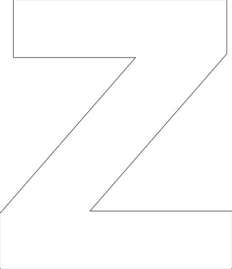 printable z template 6 best images of free printable letter z printable