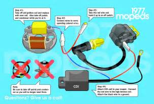 re wiring diagram for minarelli v1 with a pietcard cdi conversion moped army