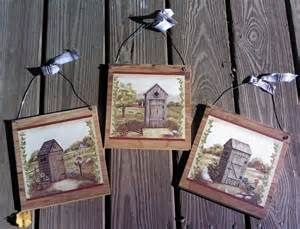 3 primitive bathroom wall hangings outhouse bath decor