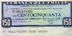 banca friuli banca friuli la lira banconote monete e miniassegni